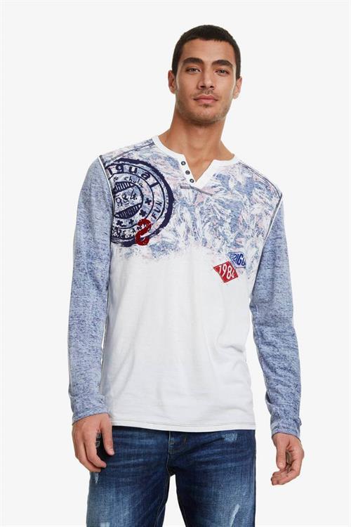 tričko Desigual Dimas blanco brillante
