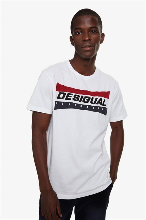 tričko Desigual Domenico blanco