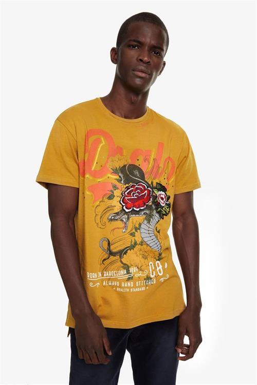 tričko Desigual Donato mostaza