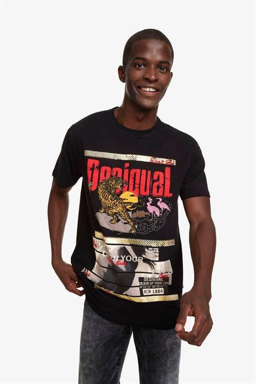 tričko Desigual Tiger negro