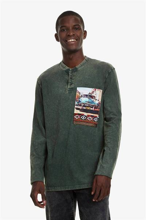 tričko Desigual Ventura verde aceituna