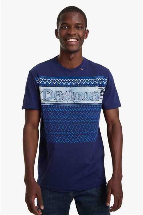 tričko Desigual Elio blue indigo