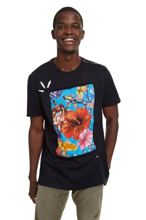 tričko Desigual Enrique negro