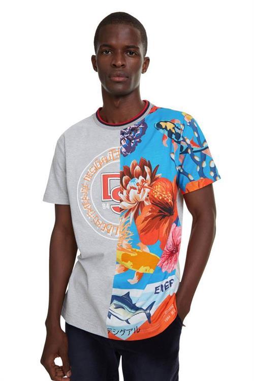 tričko Desigual Eric gris vigore claro