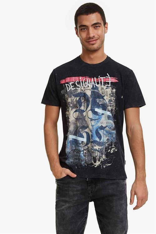 tričko Desigual Eros negro