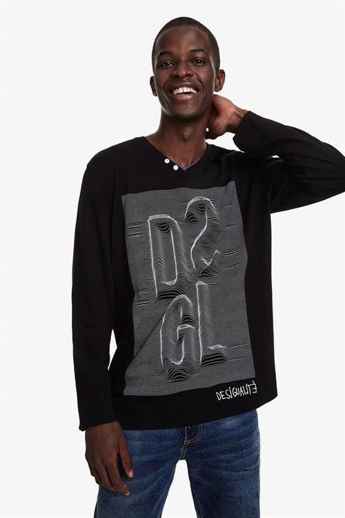 tričko Desigual Ezequiel negro