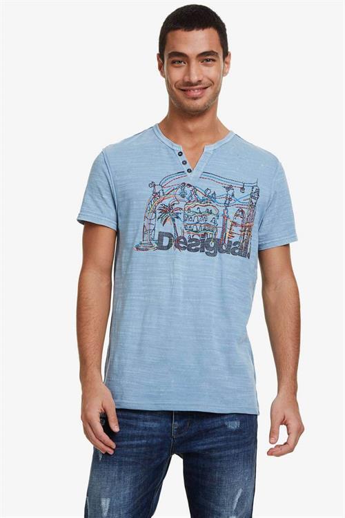tričko Desigual Ron marine blue