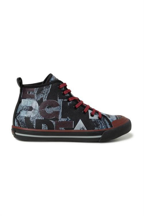 boty Desigual Sneaker High Desig negro
