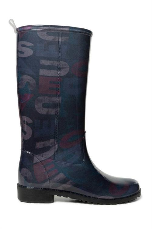 kozačky Desigual Mid Rain Boot Desi negro