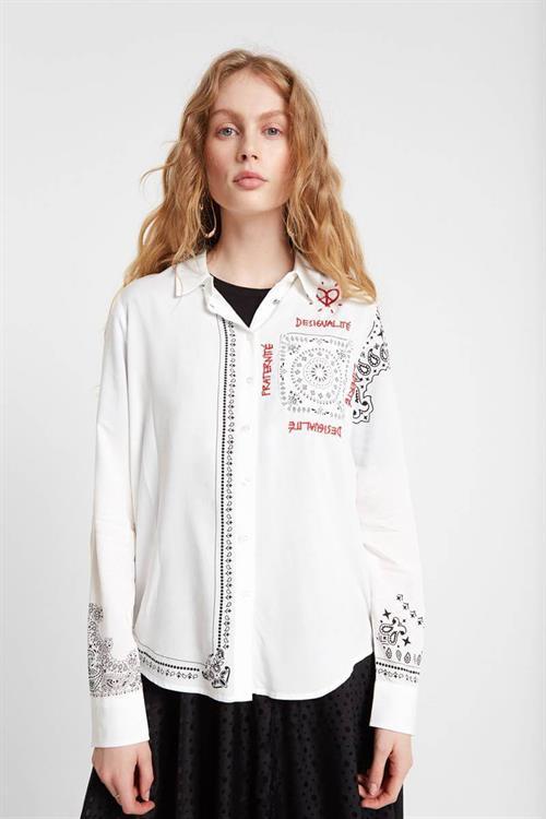košile Desigual CAM SALLY blanco