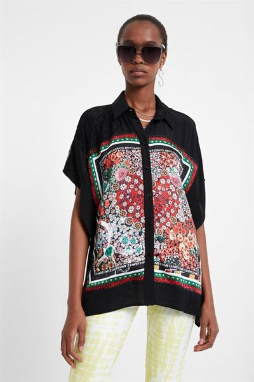 košile Desigual Ophelia negro