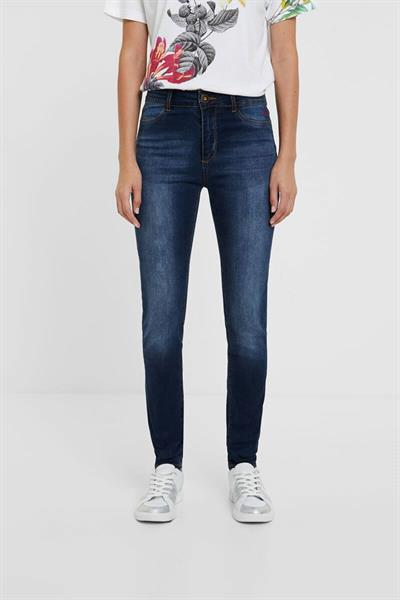 džínsy Desigual Basic denim medium dark