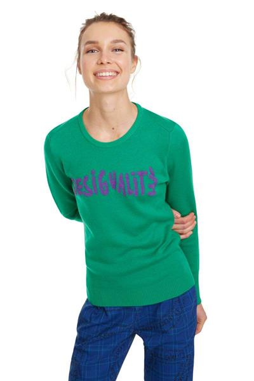svetr Desigual Desiguali verde clorofila