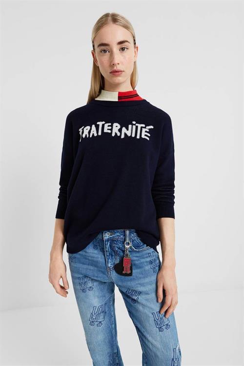 sveter Desigual Fraternite navy