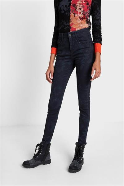 jeansy Desigual Leaves negro