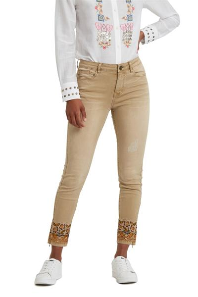 jeansy Desigual Miami Colors crudo beige