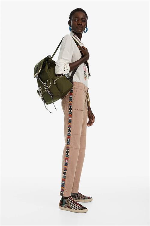 kalhoty Desigual Lauren beige safari