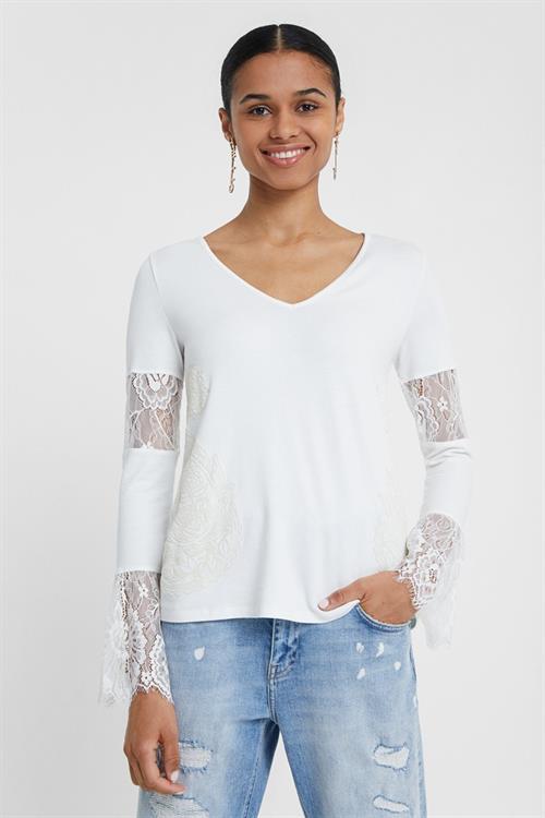tričko Desigual Amelia blanco