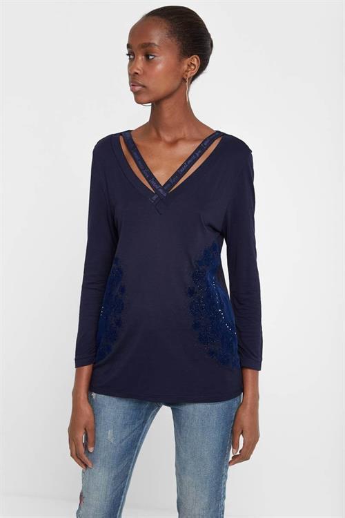 tričko Desigual Lorren navy