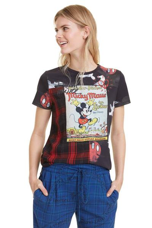 tričko Desigual Micky Maus negro