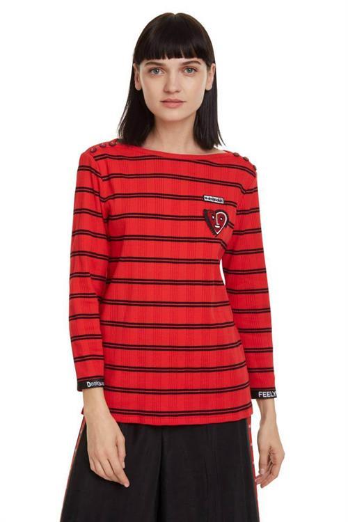 tričko Desigual Julieta rojo oscuro