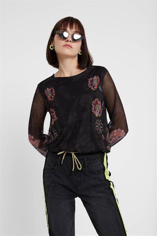 tričko Desigual Andora negro