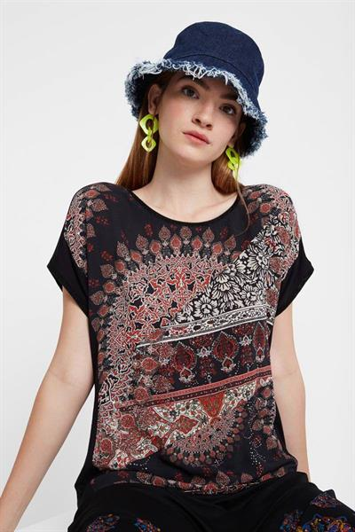 tričko Desigual Bryoni negro