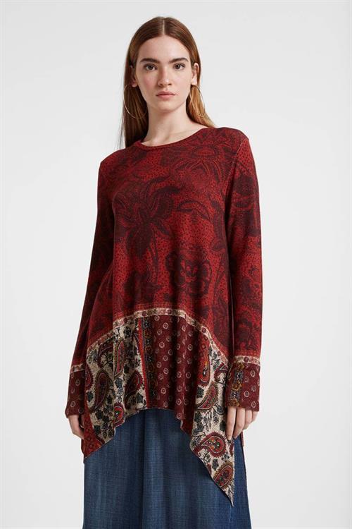 tričko Desigual Wilma borgona