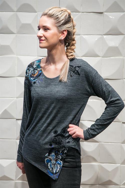 tričko Desigual Criseida R gris vigore claro