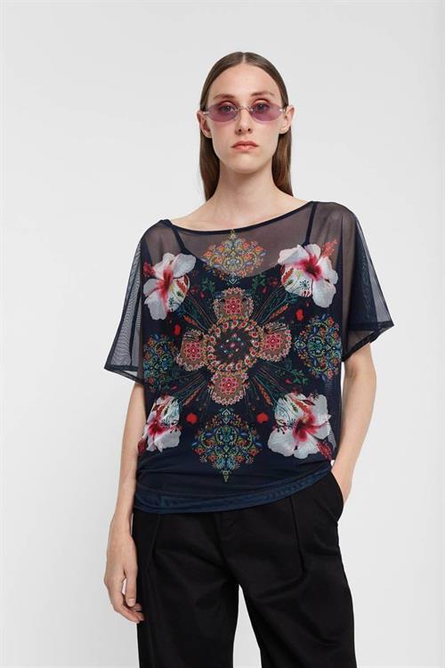 tričko Desigual Sole marino