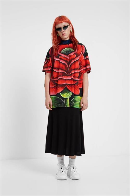 tričko Desigual Zinnia negro
