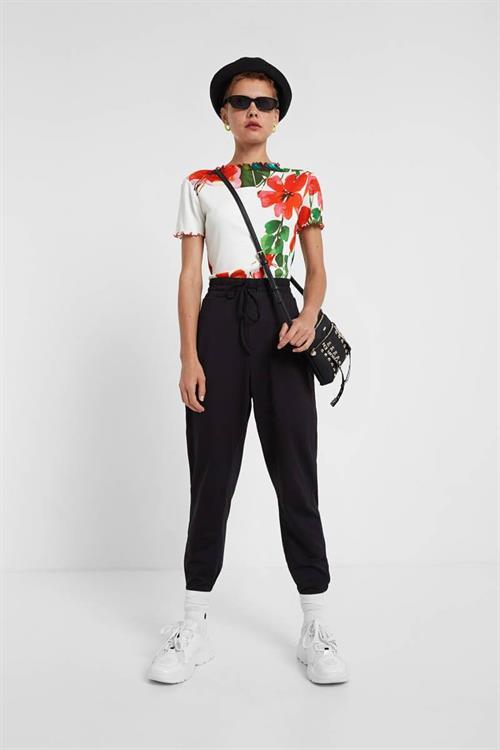 tričko Desigual Summer Garden blanco
