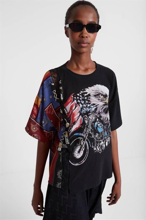 tričko Desigual Eagle negro