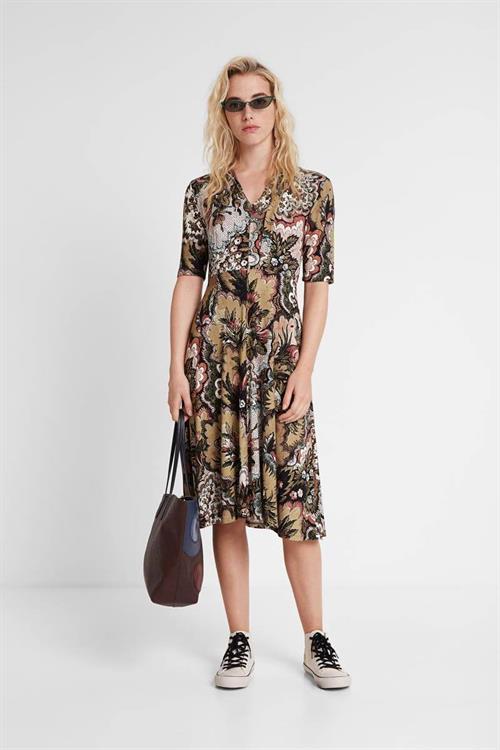 šaty Desigual Arlene kaki