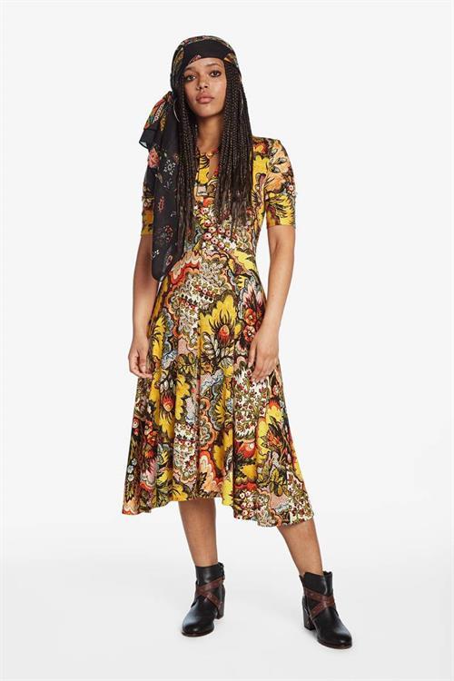 šaty Desigual Arlene mostaza