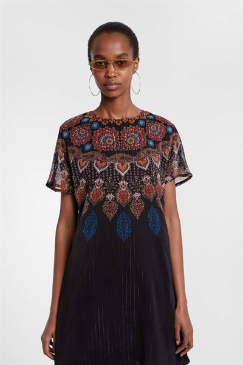šaty Desigual Mexican negro