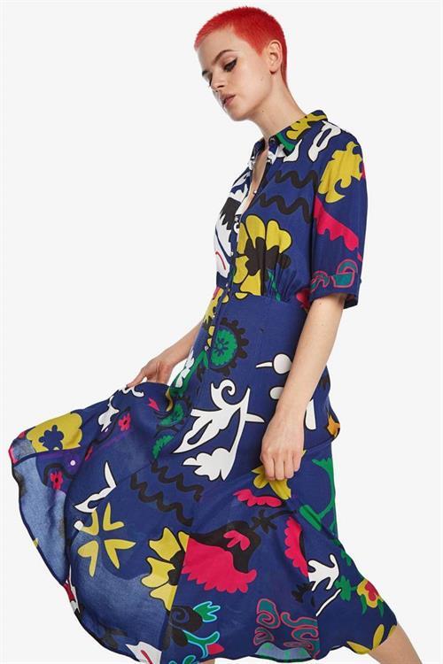 šaty Desigual Flandes azul tinta