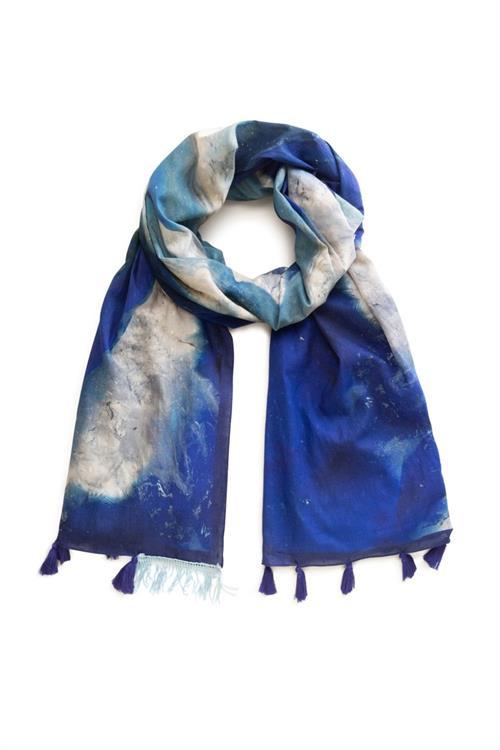 šátek Desigual Liquid Stone azul klein