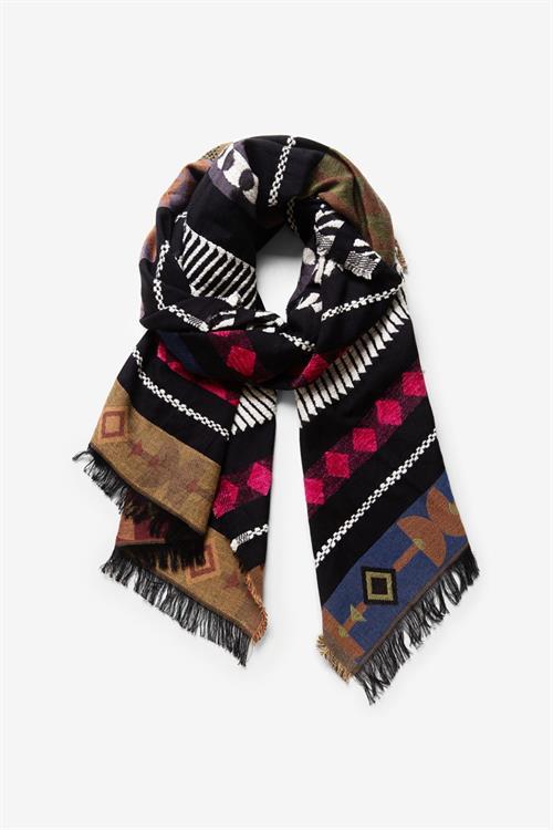 šátek Desigual Jirafa multicolor fucsia