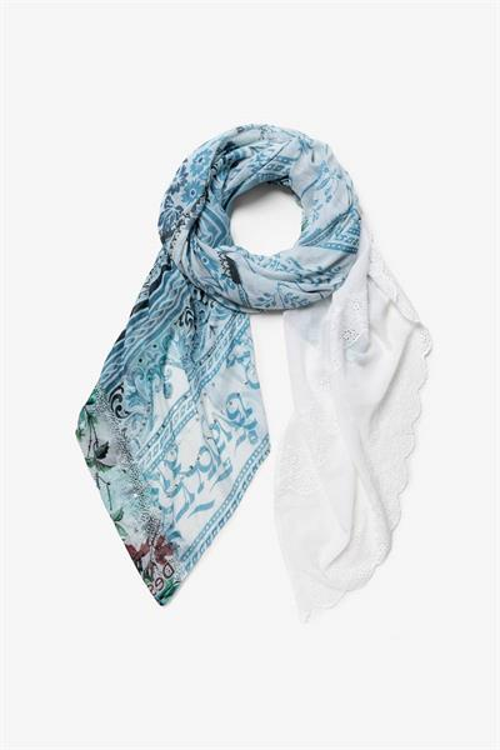 šátek Desigual Namaskara gris blue