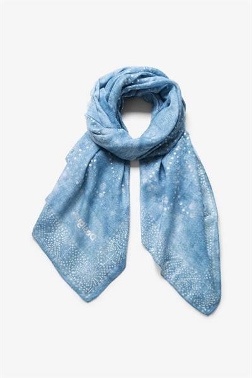 šátek Desigual Galaxy gris blue