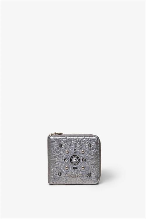 peňaženka Desigual Majestic Zip Square silver