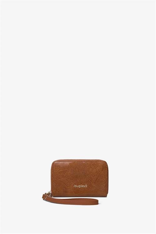 peňaženka Desigual Melody Mini Zip camel oscuro