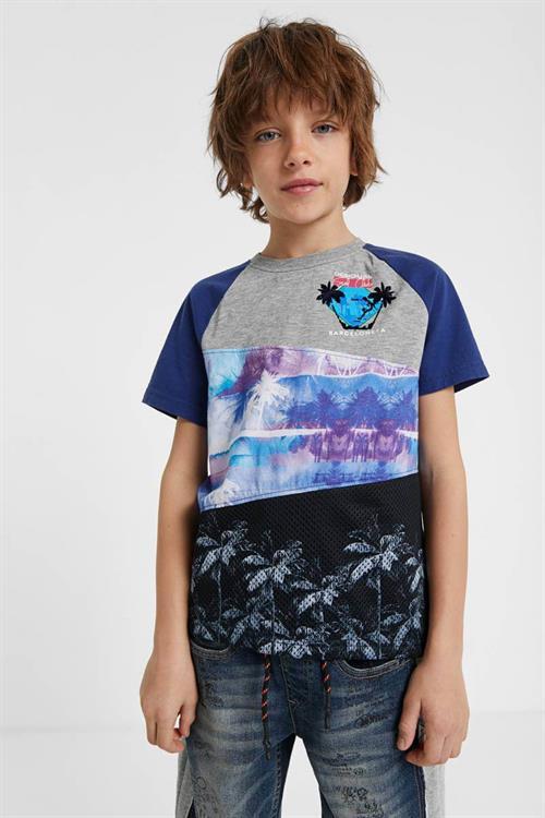 tričko Desigual John gris vigore claro