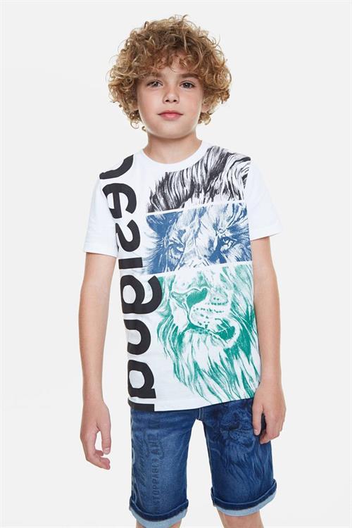 tričko Desigual Freddie blanco