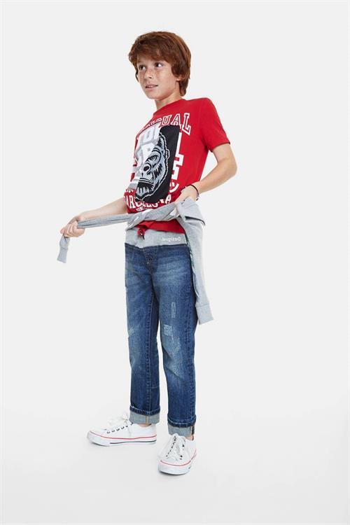 tričko Desigual Enric carmin
