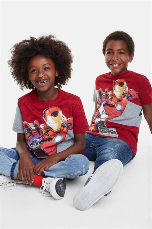 tričko Desigual Jurgen rojo