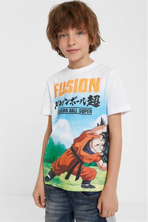 tričko Desigual Fusion blanco