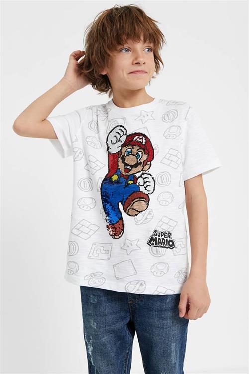 tričko Desigual Ronan blanco