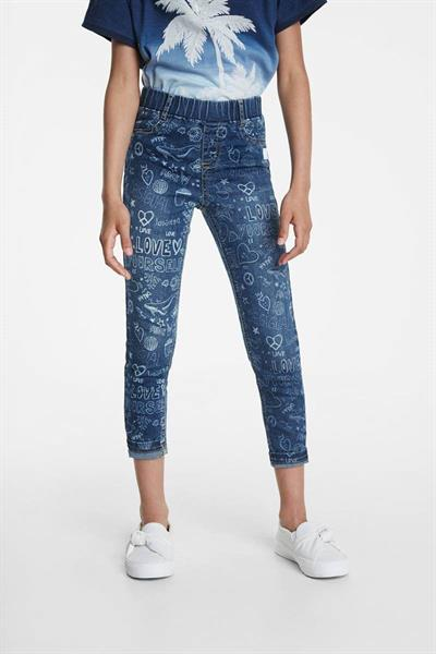kalhoty Desigual Gome denim medium wash